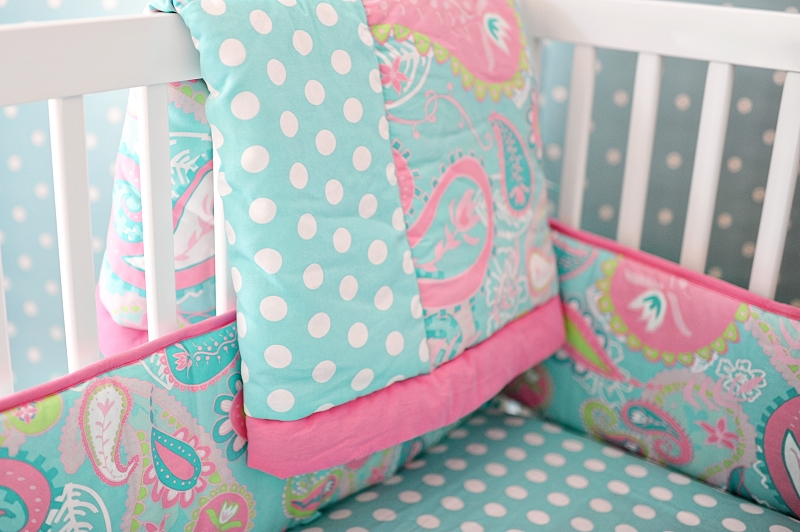 Paisley baby bedding paisley crib bedding aqua baby Baby girl bedding