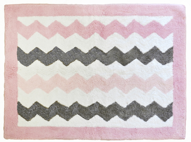 pink chevron rug images