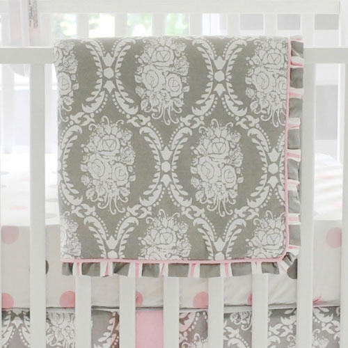 Pink And Grey Crib Bedding Pink And Gray Baby Bedding