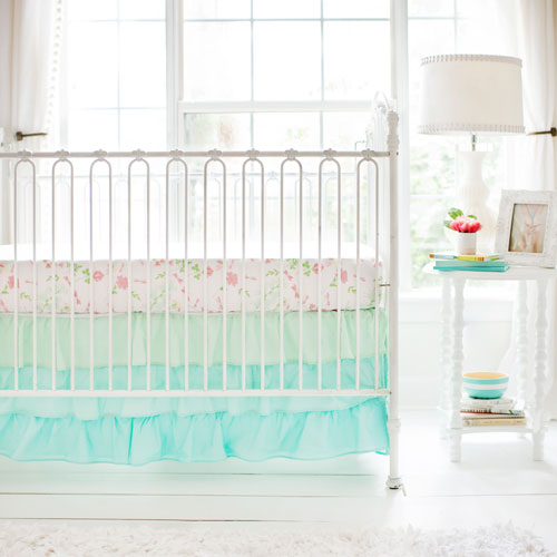 floral crib sheet coral crib fitted sheet flower crib sheet