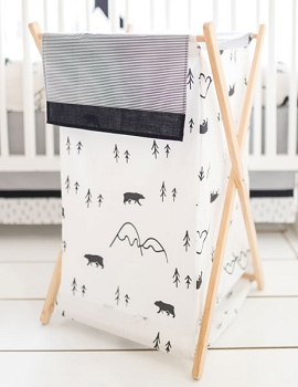 Black and White Nursery Hamper | Little Black Bear Collection