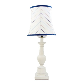 Red and Navy Chevron Nursery Lamp | First Mate Crib Collection