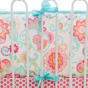 Paisley Crib Bumper | Gypsy Baby Paisley Collection