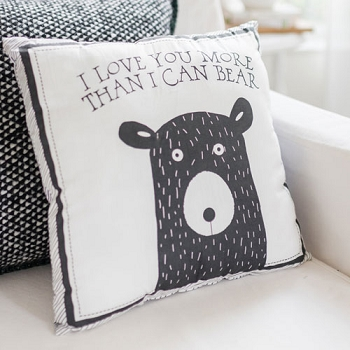Bear Throw Pillow | Little Black Bear Crib Collection