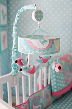 Pixie Baby Mobile in Aqua