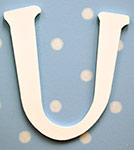 White Hanging Letters