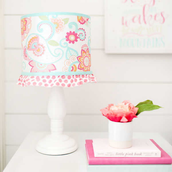 Pink And Aqua Paisley Baby Lamp Gypsy Crib Collection