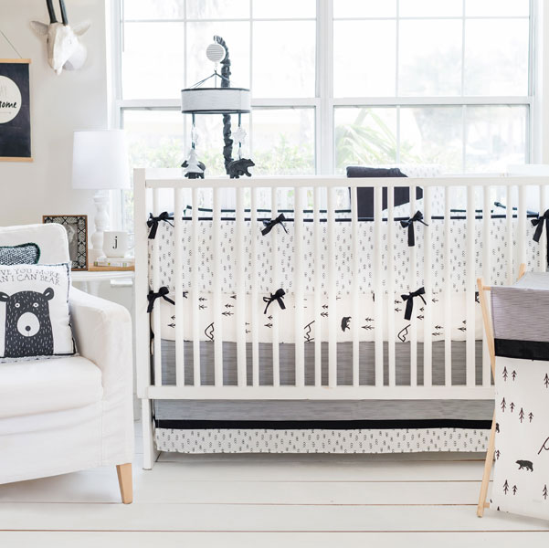 Woodland Baby Bedding | Little Black Bear Collection