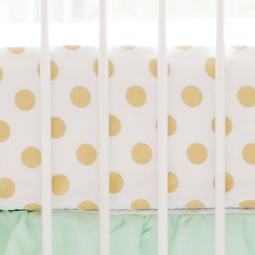 Gold Polka Dot Nursery Sheet