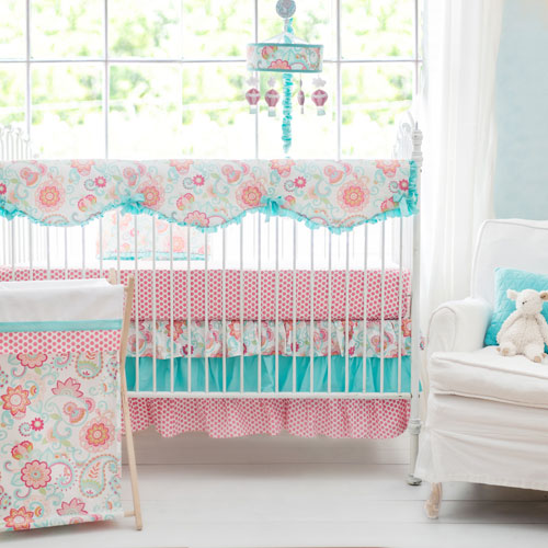 Paisley Crib Bedding Rail Cover Set | Gypsy Baby Paisley Collection