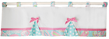Pink and Aqua Nursery Valance | Pixie Baby in Aqua Collection