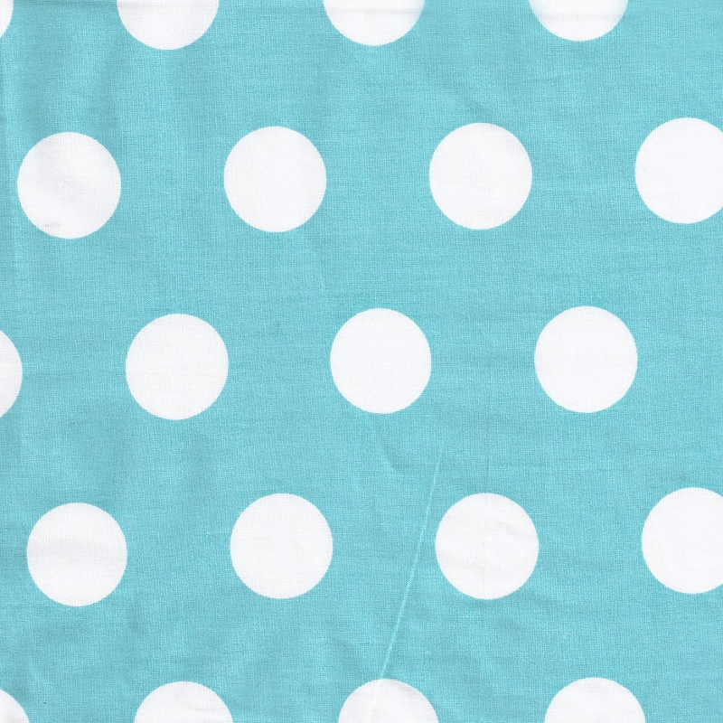 Pixie Baby in Aqua Polka Dot Fabric