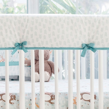 Crib Rail Cover | Forest Friends Collection