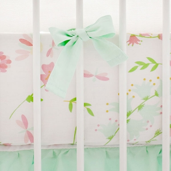 Spring Pastel Floral Crib Sheet | Mix & Match Collection