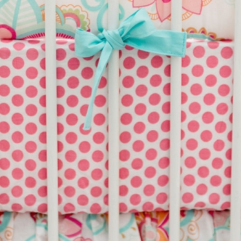 Pink Polka Dot Crib Sheet | Gypsy Baby Collection