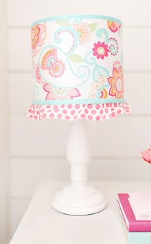 Pink and Aqua Paisley Baby Lamp | Gypsy Baby Crib Collection