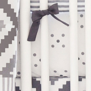 Gray Polka Dot Crib Sheet | Imagine Collection