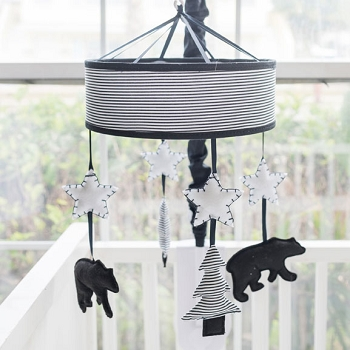 Black and White Bear Crib Mobile | Little Black Bear Collection