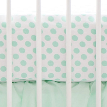 Mint Polka Dot Crib Sheet | Mix & Match Collection