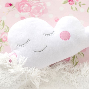 Cloud Throw Pillow in Pink