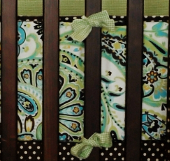 Crib Bumper | Paisley Splash in Lime Crib Collection