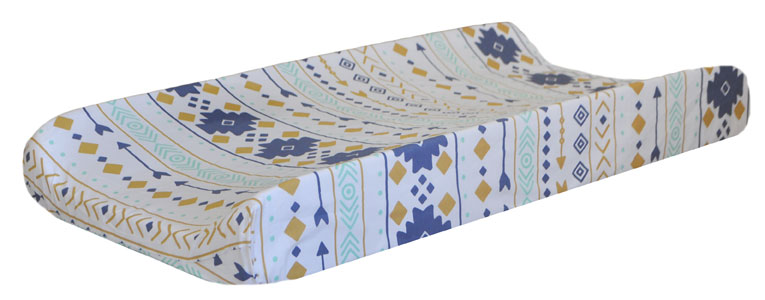 Gold and Navy Changing Pad Cover | Desert Sky Collection