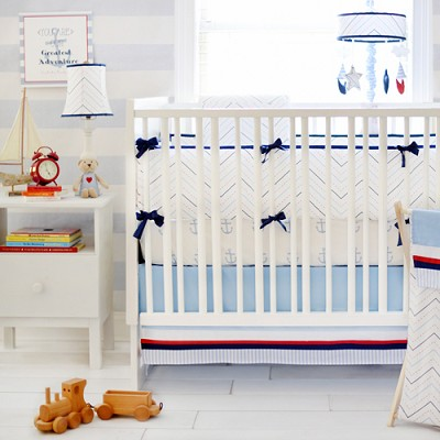 Nautical Crib Bedding Set | First Mate Collection