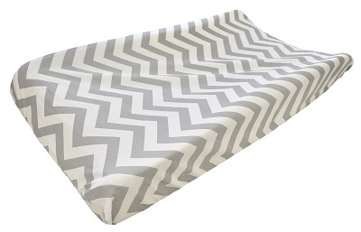 Gray Chevron Changing Pad Cover | Out of the Blue Collection