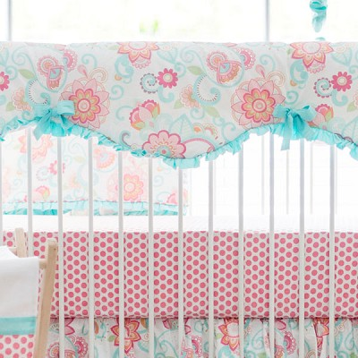 Paisley Crib Rail Cover | Gypsy Baby Collection