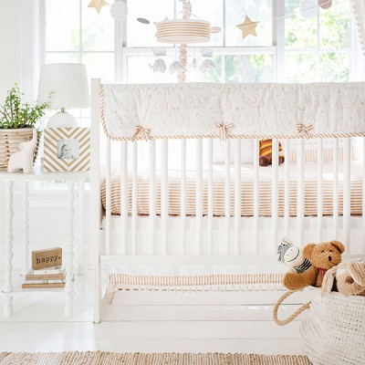 Elephant Crib Bedding | 9 Piece Heart of Gold Collection