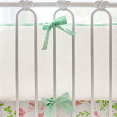 Mint and White Crib Bumper | Mix and Match Collection