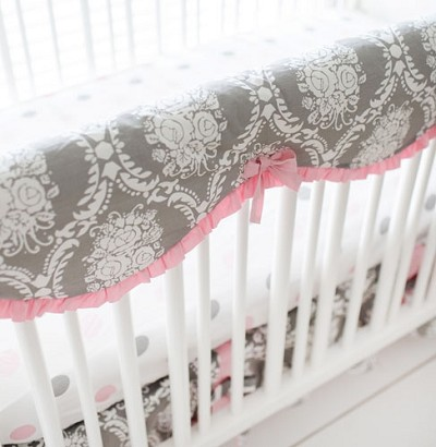 Pink and Grey Baby Bedding | Olivia Rose Crib Collection