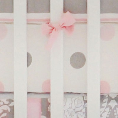 Pink and Gray Crib Sheet | Olivia Rose Crib Collection