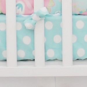 Aqua Polka Dot Crib Sheet | Pixie Baby in Aqua Crib Collection