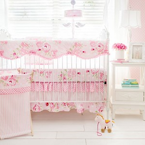 Floral Baby Bedding Rail Cover Set | Rosebud Lane Crib Collection