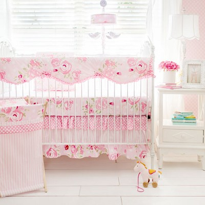 Floral Crib Bedding Rail Cover Set | Rosebud Lane Collection