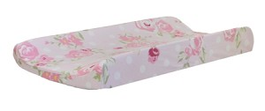 Pink Floral Changing Pad Cover | Rosebud Lane Crib Collection