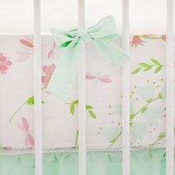Spring Pastel Floral Nursery Crib Sheet | Mix & Match Crib Bedding Collection